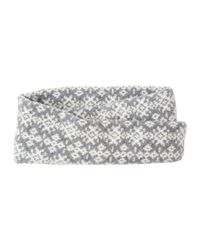 Toast | Gray Lambswool Estonian Jacquard Headwrap | Lyst