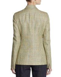 Akris - Green Plaid Check Twobutton Blazer - Lyst