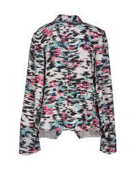 Balenciaga - Black Raffia-Effect Jacquard Jacket - Lyst