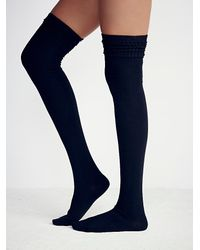 Free People | Blue Silver Lake Thigh High Sock | Lyst