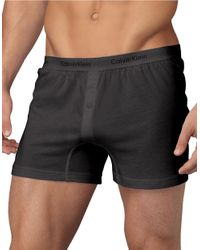 Calvin Klein | Gray Slim Fit Knit Boxer Shorts for Men | Lyst