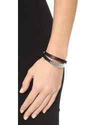 McQ - Black Mini Bullets Wrap Bracelet - Lyst