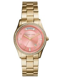 Michael Kors - Metallic Women'S Colette Gold-Tone Stainless Steel Bracelet Watch 34Mm Mk6143 - Lyst