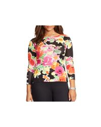 Pink Pony | Multicolor Lauren Plus Floral Print Sweater | Lyst