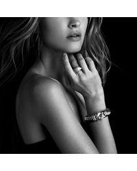 David Yurman - Metallic Metro Cuff With Diamonds - Lyst