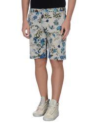 Altea - Gray Bermuda Shorts for Men - Lyst
