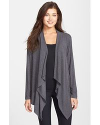 DKNY | Gray 'urban Essentials' Cardigan | Lyst