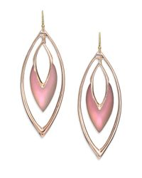 Alexis Bittar | Pink Lucite Orbit Marquis Drop Earrings | Lyst