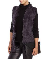 Love Token - Gray Sofia Real Rabbit Fur Vest - Lyst