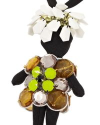 Marni - Black Embellished Twill Doll Necklace - Lyst