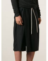 Rick Owens - Black Skirt Effect Loose Fit Trousers for Men - Lyst