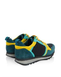 Gucci - Blue Contrast Low-Top Sneakers for Men - Lyst