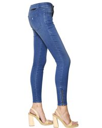 Stella McCartney | Blue Skinny Stretch Cotton Denim Jeans | Lyst