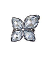 Aurora | Metallic Flower Ring | Lyst