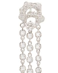 Wendy Yue - Metallic White Sapphire Chain Drop Earrings - Lyst