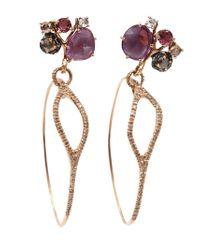 Federica Rettore | Metallic Sapphire Mobile Earrings | Lyst