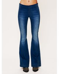 Free People | Blue Fp Pull On Flares | Lyst