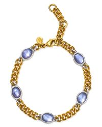 Alexis Bittar | Metallic Soft Chain Link Bangle | Lyst