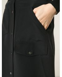 Alexander Wang | Black Buttoned A-line Skirt | Lyst