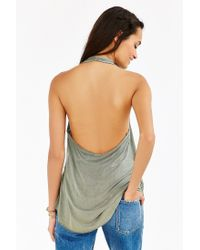Truly Madly Deeply - Green Wrap Halter Top - Lyst