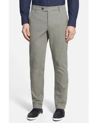 Ted Baker | Natural 'brewer' Slim Fit Trousers for Men | Lyst