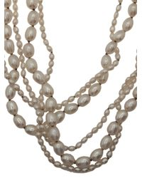 Beth Orduna - White Pearl Necklace - Lyst