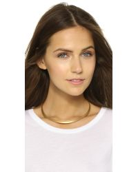 Madewell | Metallic Desso Collar Necklace - Shiny Gold | Lyst
