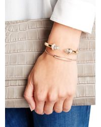 Monica Vinader - Pink Linear Evil Eye 18kt Rose Gold-plated Bracelet - Lyst