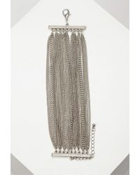 Forever 21 - Metallic Layered Chain Bracelet - Lyst