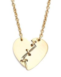 Marc By Marc Jacobs - Metallic 'broken Heart' Pendant Necklace - Oro - Lyst