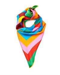 Valentino - Green 1973 Rainbow Silk Scarf - Lyst