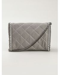 Lyst - Stella McCartney Falabella Quilted Cross-Body Bag in Gray 92010f01511a4