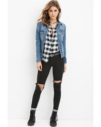Forever 21 | Black Classic Buffalo Plaid Shirt | Lyst