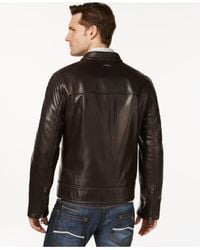 Andrew Marc - Brown Windsor Leather Jacket for Men - Lyst