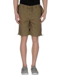 GAUDI - Green Bermuda Shorts for Men - Lyst