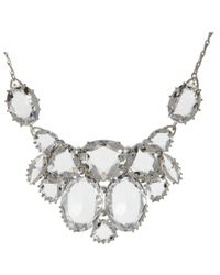 Cabinet - Metallic Sterling Silver Plated Swarovski Crystal Plume Statement Necklace - Lyst