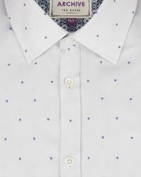 Ted Baker - White Fil Coupé Shirt for Men - Lyst