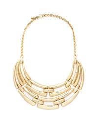 Kenneth Jay Lane | Metallic Linear Bar Bib Necklace | Lyst