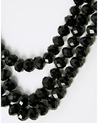 Ted Baker | Black 3 Row Bead Choker Necklace | Lyst