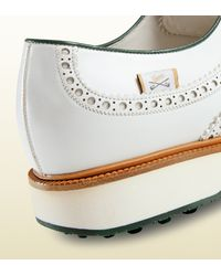 Gucci - White Leather Lace-up Fringed Shoe for Men - Lyst