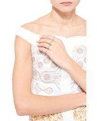 Lauren X Khoo - Orange Bespoke Four-finger Ring - Lyst