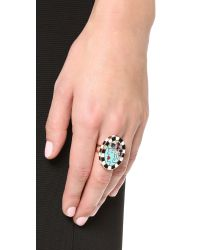 Holly Dyment - Metallic Girl Portrait Ring - Gold - Lyst
