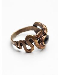 Free People - Metallic Tiger Mountain Womens Coiled Snake Ring - Lyst