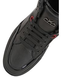 Royaums - Black 2andmade Leather High Top Sneakers - Lyst