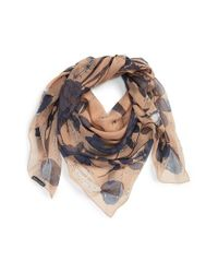 Alexander McQueen - Natural 'Nest Of Roses' Scarf - Lyst