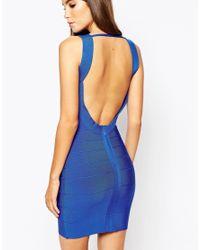 Wow Couture   Black Bandage Midi Dress   Lyst