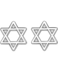 Theo Fennell | Metallic 18ct White-gold And Diamond Star Iconette Earrings | Lyst