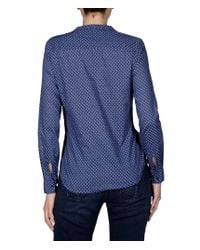 Napapijri | Blue Long Sleeve Shirt | Lyst