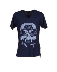 Denham - Blue T-shirt for Men - Lyst