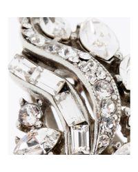 Ben-Amun Metallic Swarovski Crystalembellished Fauxpearl Clipon Earrings